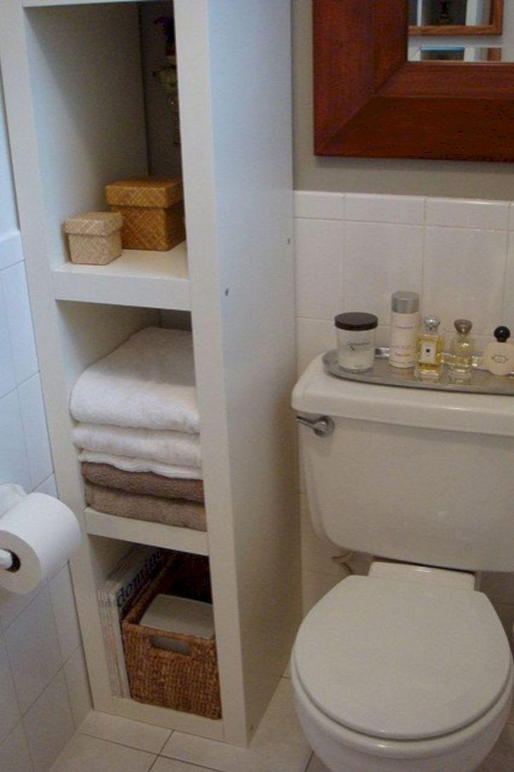 Creative Shelving Ideas for Small Bathrooms 29