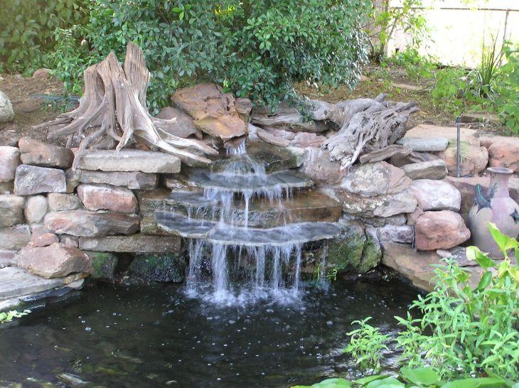 Simple Backyard Waterfall Design 11