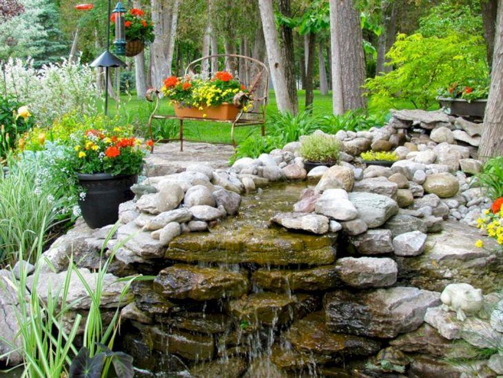 Simple Backyard Waterfall Design 16