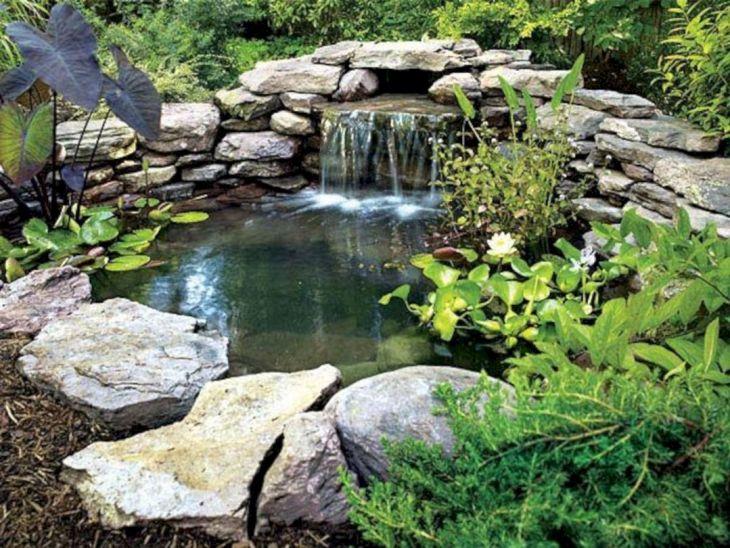 Simple Backyard Waterfall Design 4