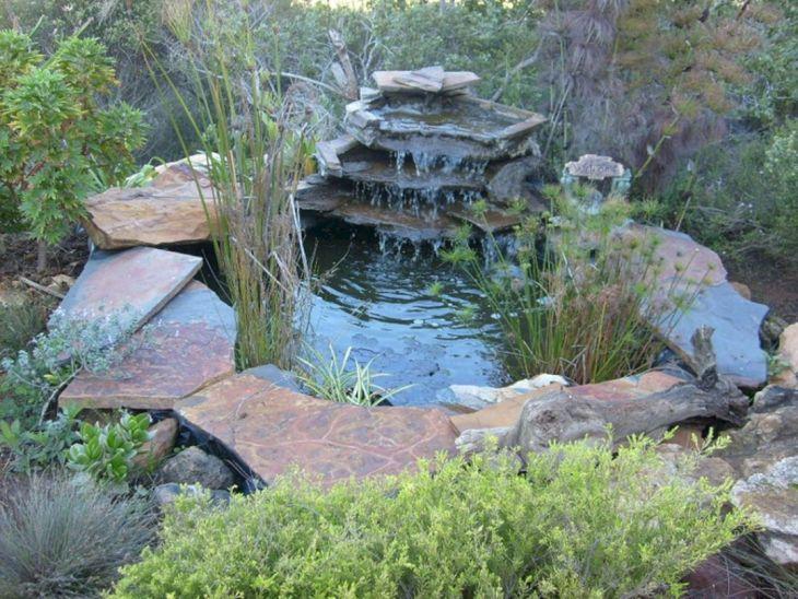 Simple Backyard Waterfall Design 6