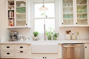 Farmhouse Kitchen Cabinet 1