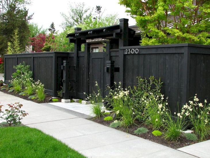Black Garden Fences Design 10