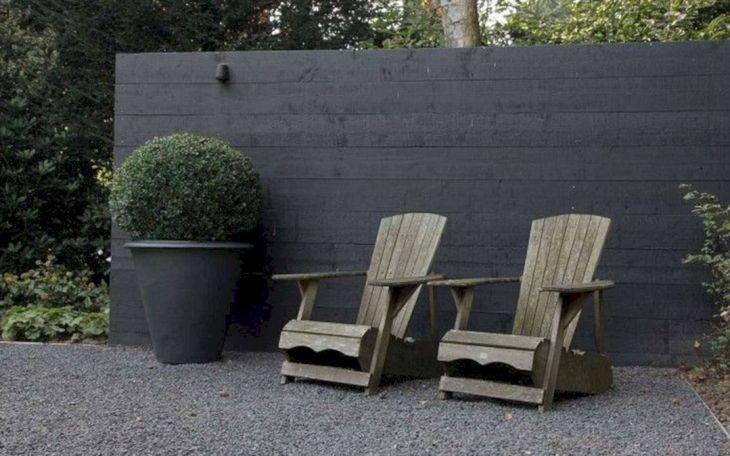 Black Garden Fences Design 28