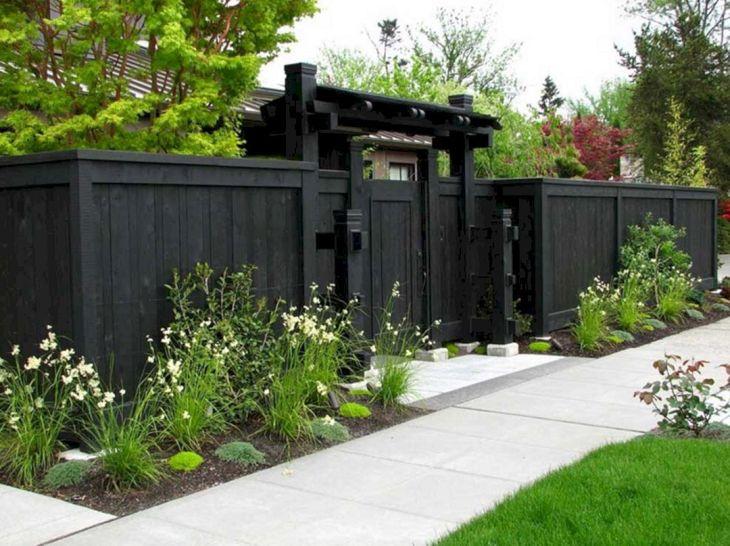 Black Garden Fences Design 6