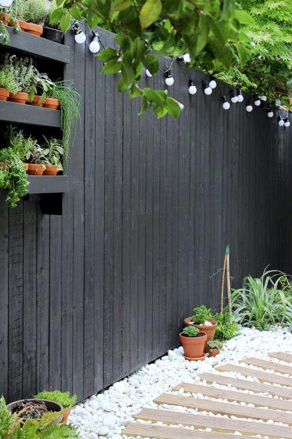 Black Garden Fences Design 7
