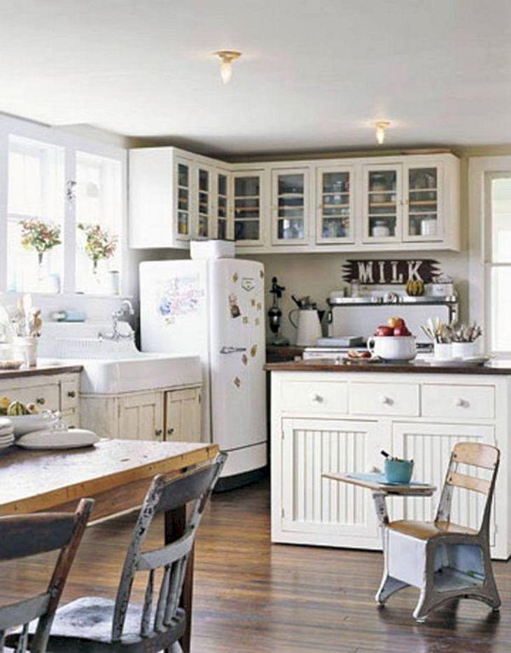 23 Awesome Vintage Farmhouse Kitchen Designs For Cozy Kitchen Ideas