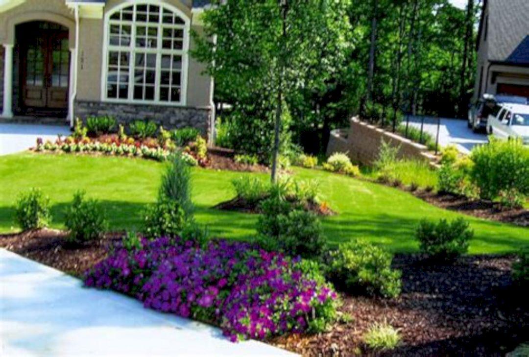 Front Yard Flower Garden Design 1