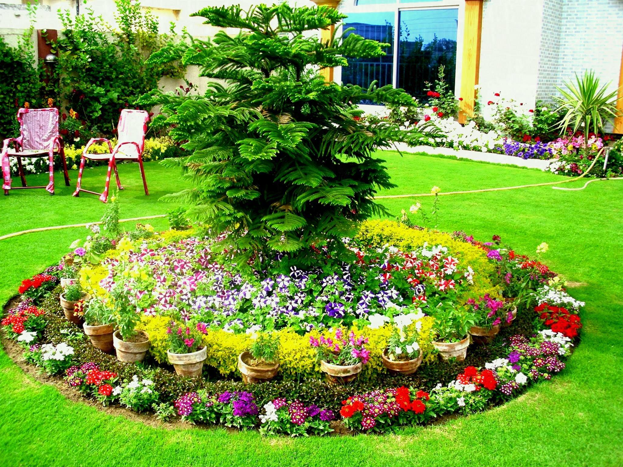Front Yard Flower Garden Design 2