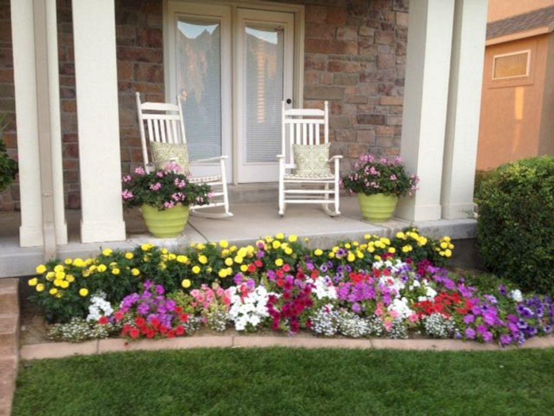 Front Yard Flower Garden Design 33