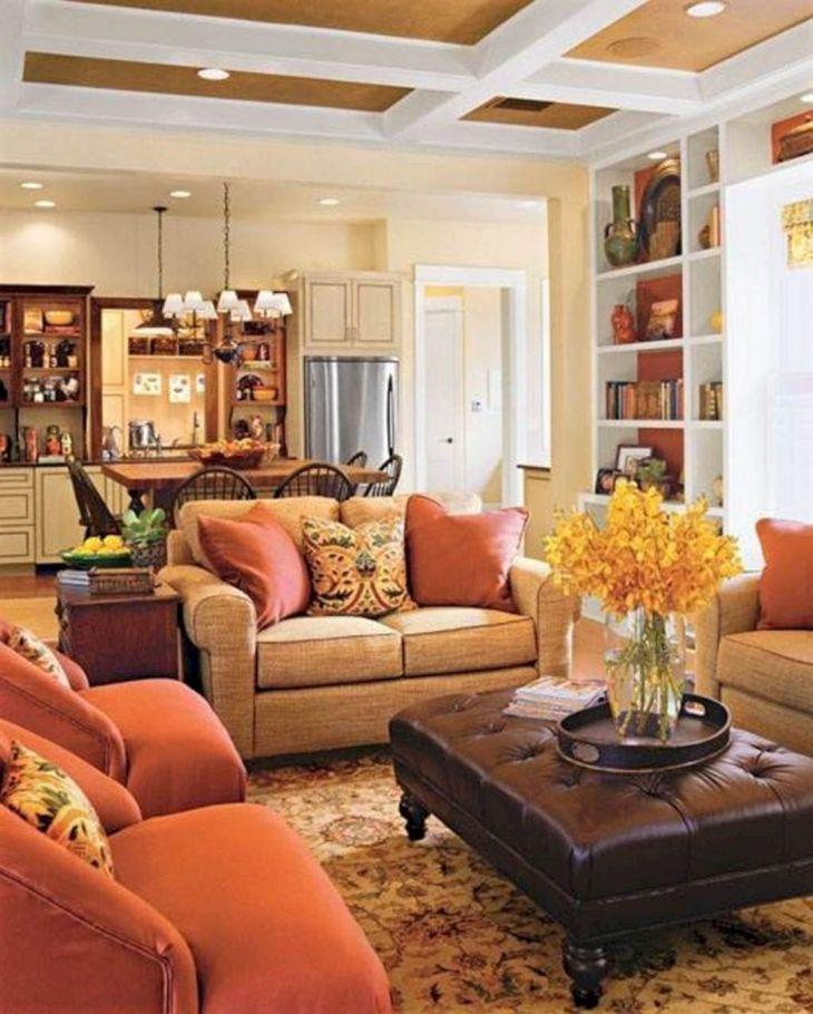 Living Room Fall Decor Ideas 11