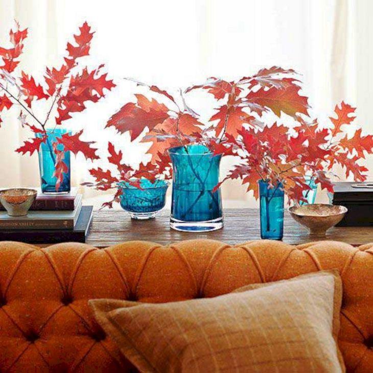 Living Room Fall Decor Ideas 14
