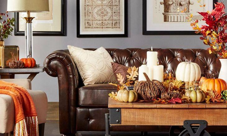 Living Room Fall Decor Ideas 18