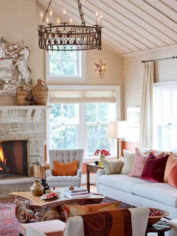 Living Room Fall Decor Ideas 19