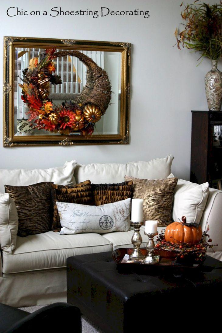 Living Room Fall Decor Ideas 20