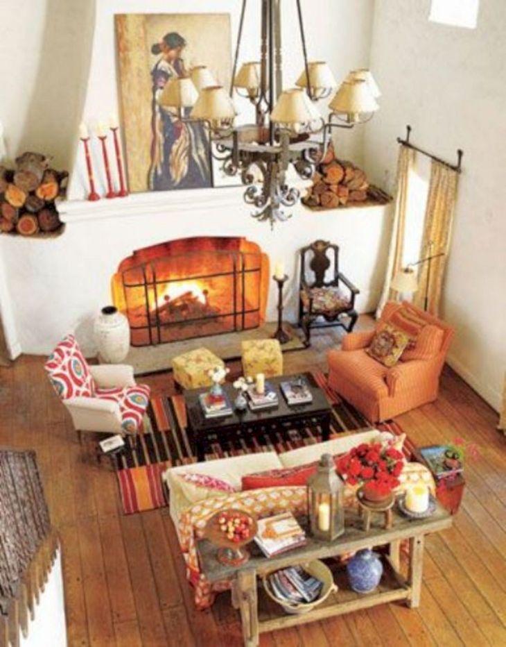 Living Room Fall Decor Ideas 27