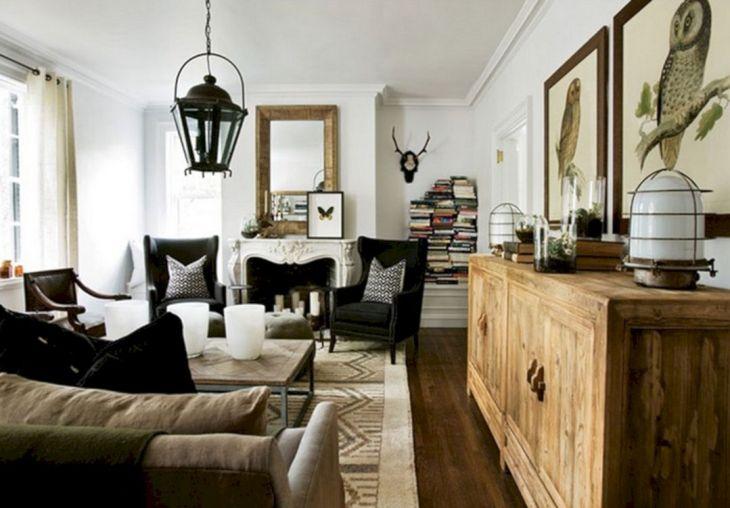 Living Room Farmhouse Decoration Ideas 117