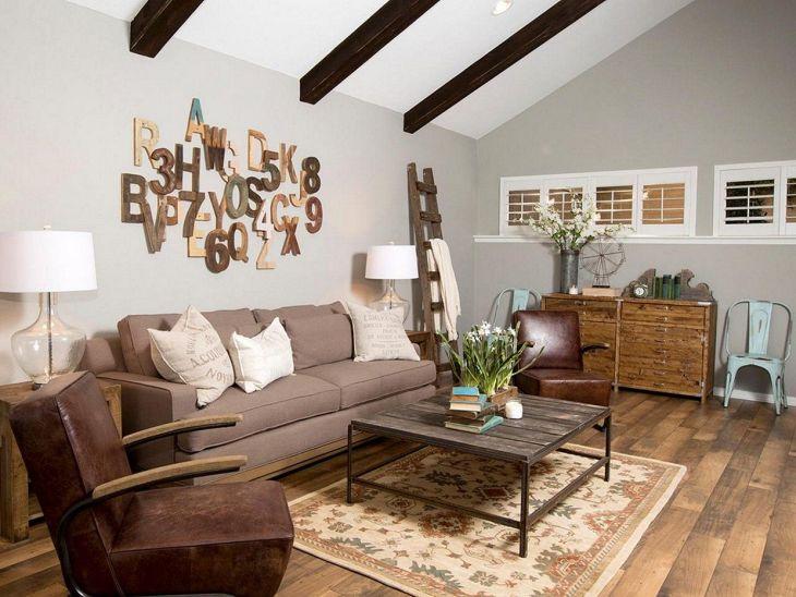 Living Room Farmhouse Decoration Ideas 119