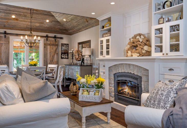Living Room Farmhouse Decoration Ideas 124