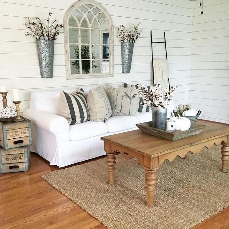 Living Room Farmhouse Decoration Ideas 125