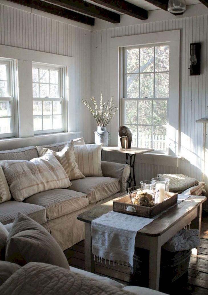 Living Room Farmhouse Decoration Ideas 129