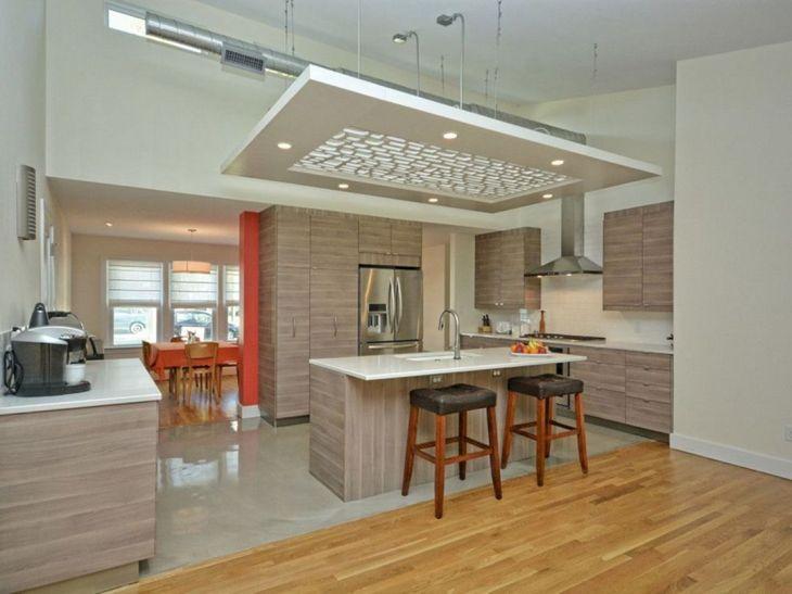 Modern Kitchen Ceiling Design Ideas 17