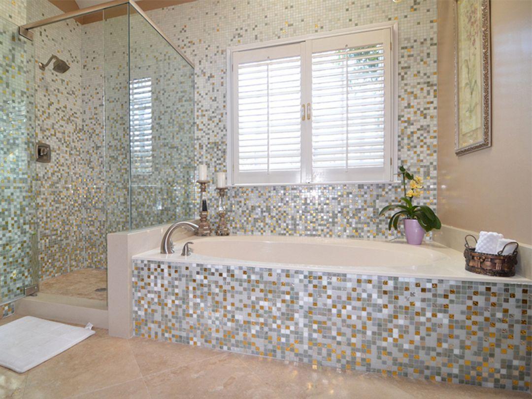 Bathroom Design With Tile Mosaic (4)