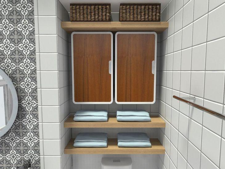 DIY Bathroom Storage Wall Cabinet (5)