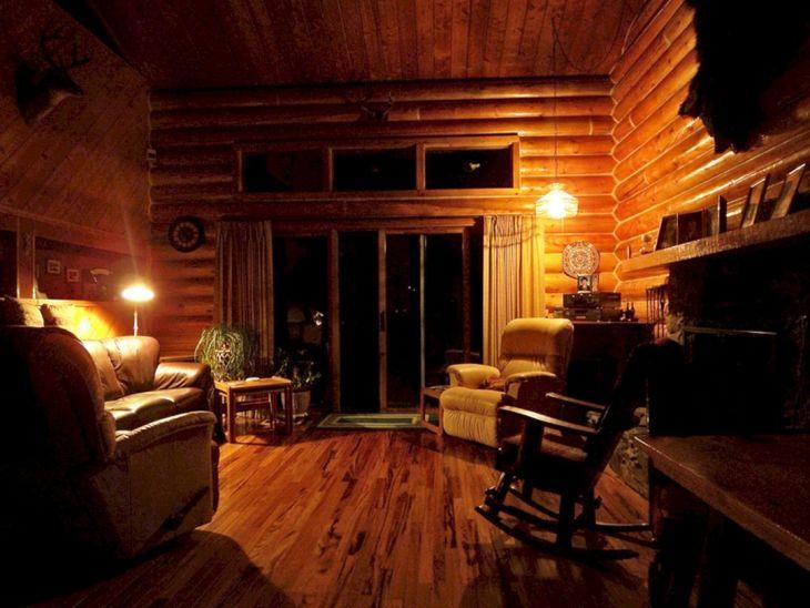 Rustic Cabin Interior Ideas 28
