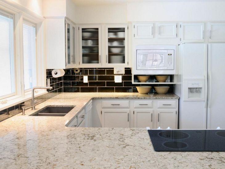 White Granite Kitchen 40