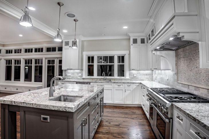 White Granite Kitchen 90
