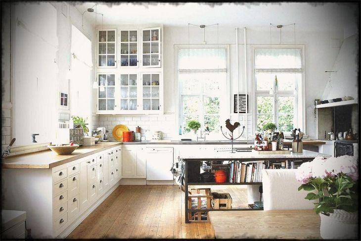 Ceramic L shaped Minimalist Kitchen Design