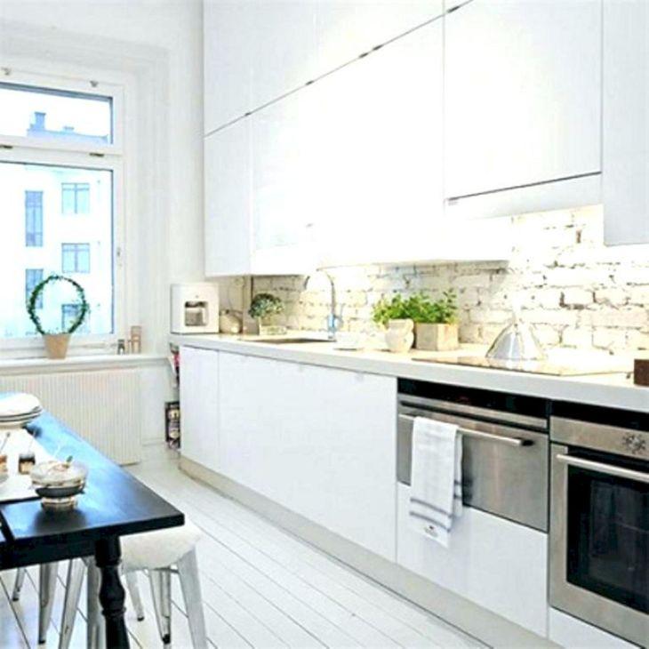 Kitchen Interiors With White Brick Backsplash