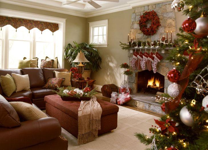 Living Room Christmas Decor 1014
