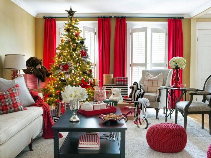 Living Room Christmas Decor 1017