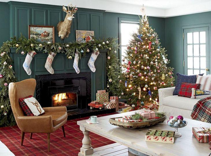 Living Room Christmas Decor 1018