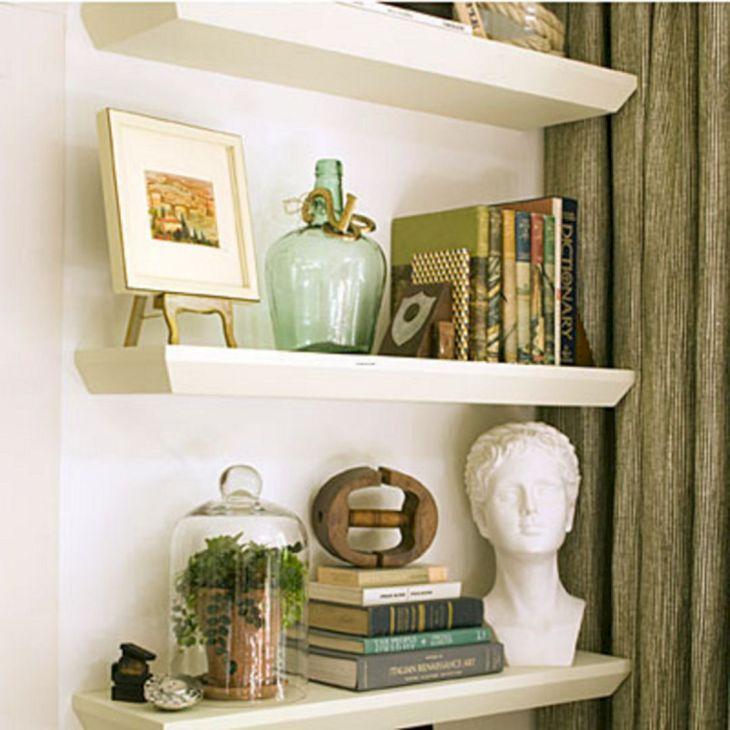 Living Room Floating Shelves Ideas 12