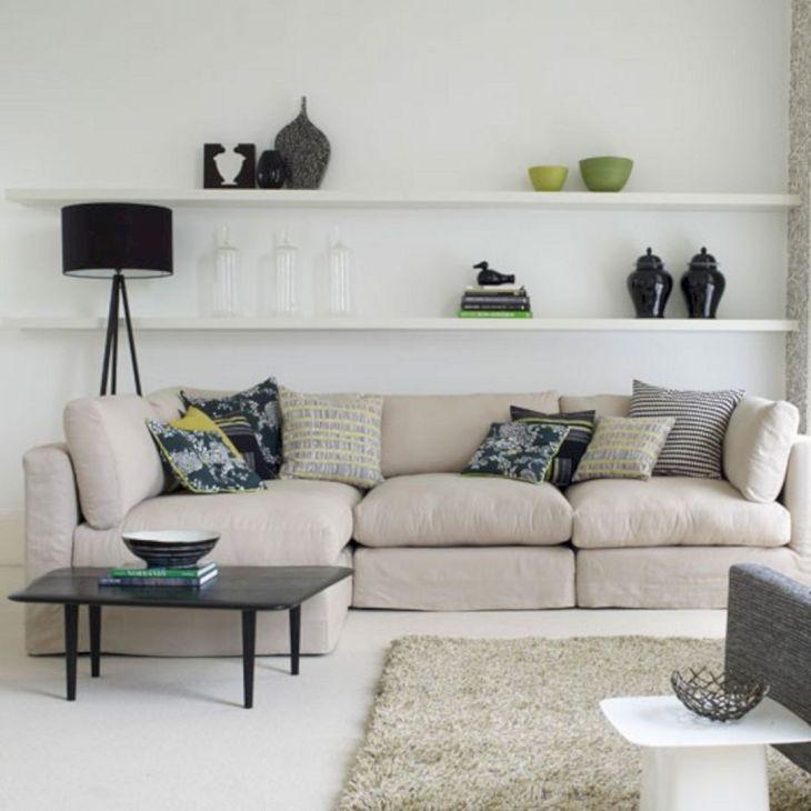 Living Room Floating Shelves Ideas 13