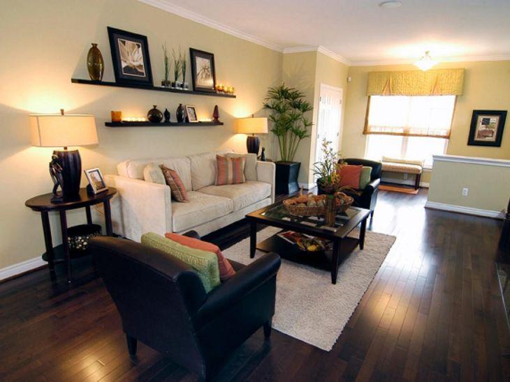 Living Room Floating Shelves Ideas 14