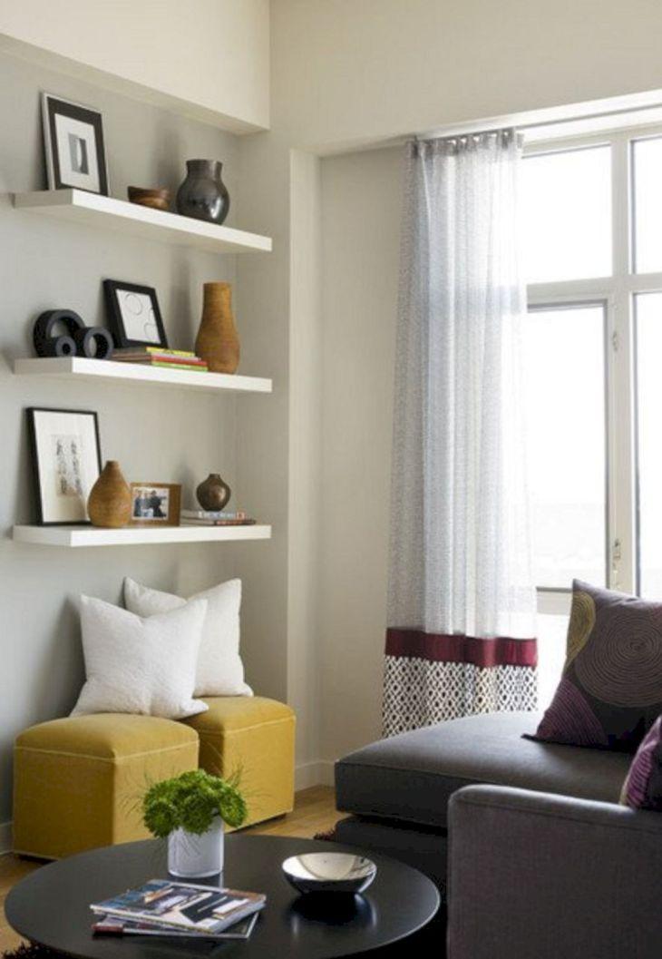 Living Room Floating Shelves Ideas 15