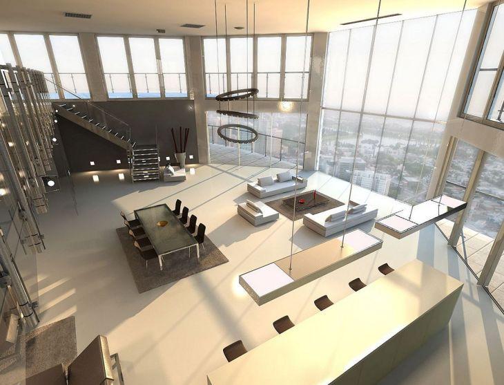 Living Room Open Space Design 301