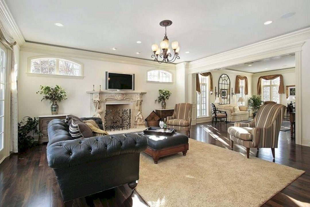 Living Room With Dark Wood Floors 220