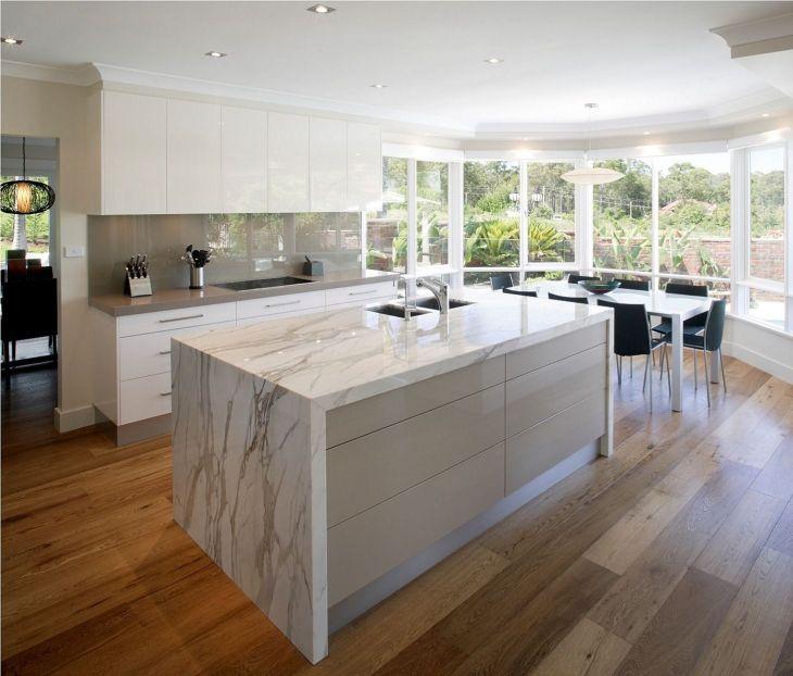 Minimalist Kitchen Design With Beach