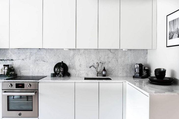 Scandinavian L style Minimalist Kitchen