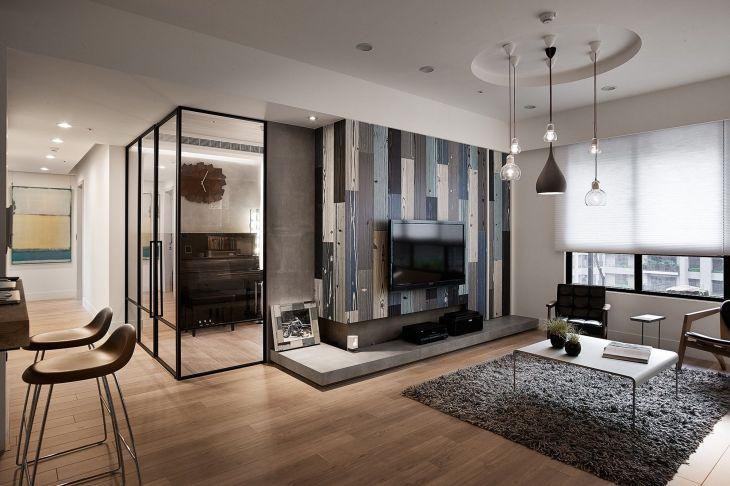Dark Colors Apartment Studio Design
