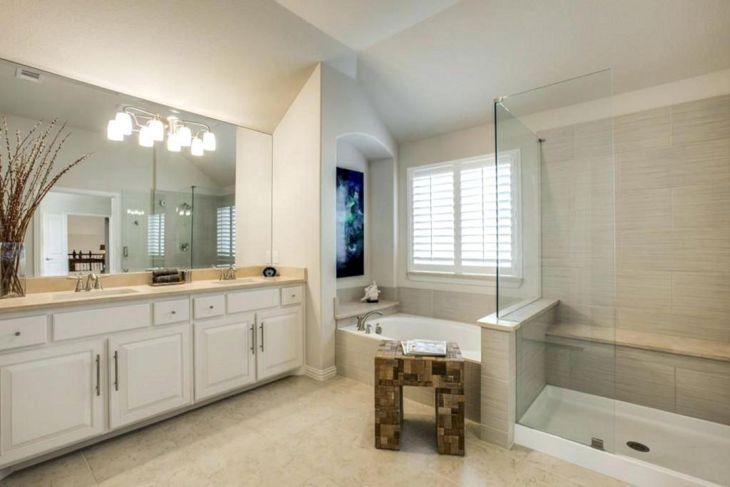 Frameless Glass Bathroom with Backlight