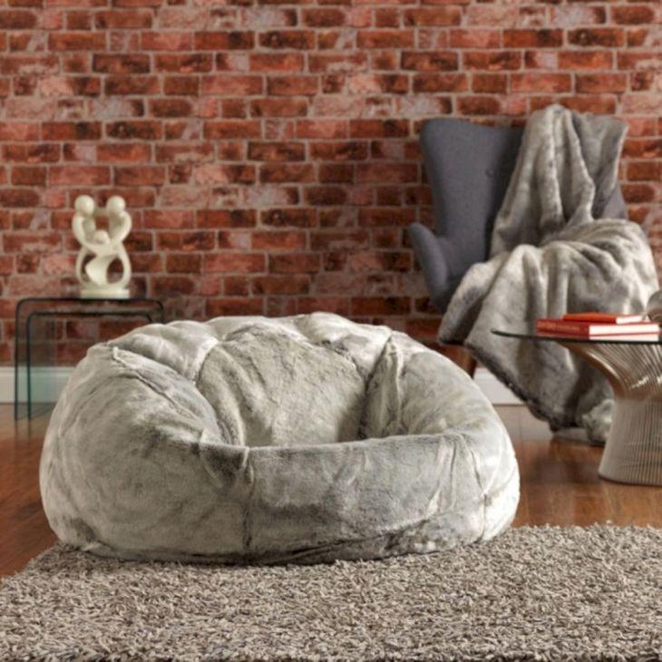 Fur Carpet Thick with Bean Bag
