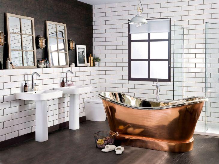 Industrial Bathroom Glass Design