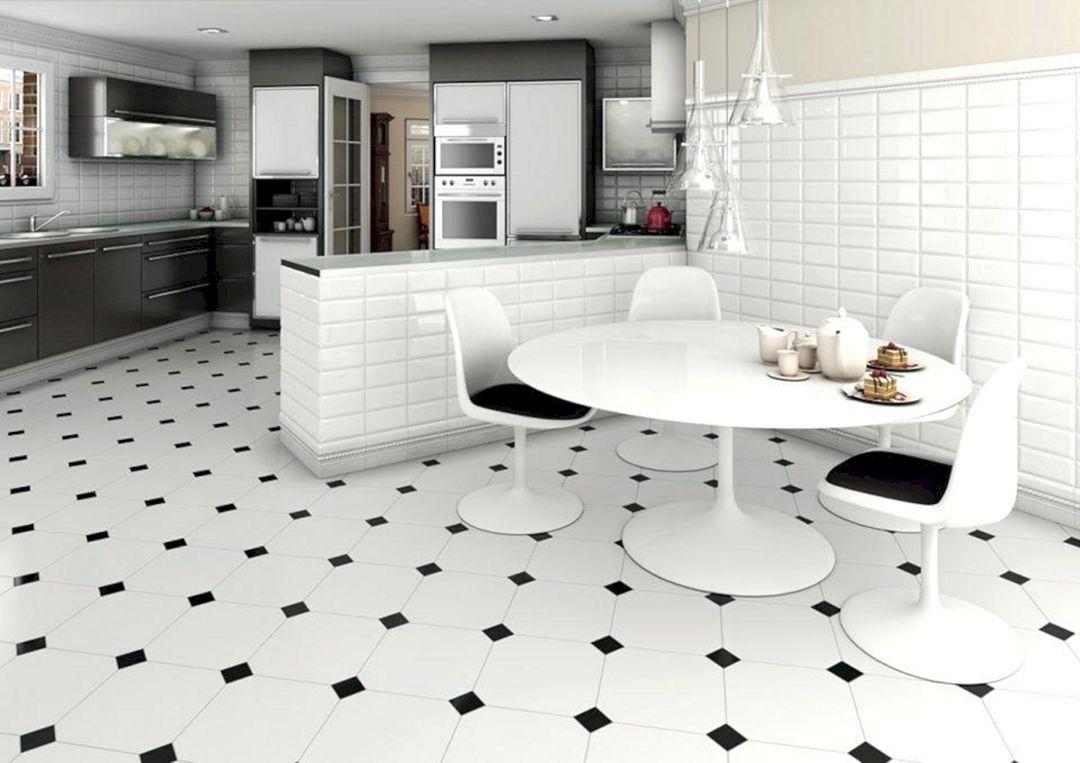 kitchen interior with penny tile decoredo