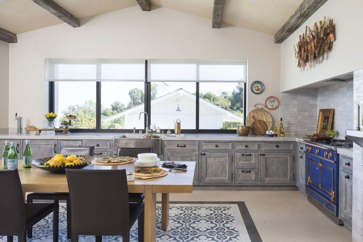 Kitchen Interior With Tartan Floor